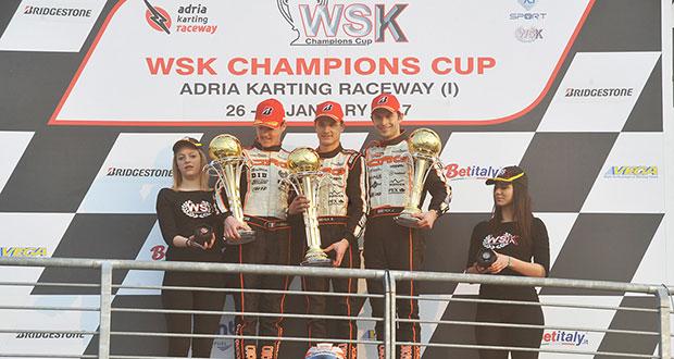 Finali ricche di colpi di scena per la WSK Champions Cup all'Adria Karting Raceway