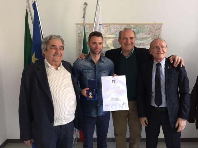 Marco Ardigò premiato dal CONI