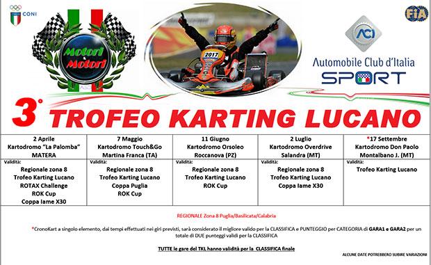 Trofeo Karting Lucano – presentazione calendario 2017