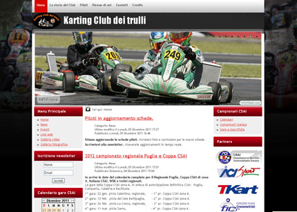 New Website for Karting Club dei Trulli