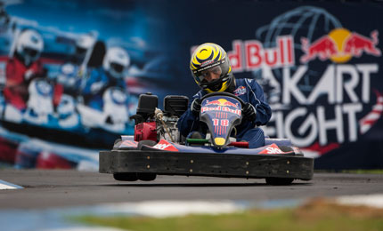 The world final of the 2012 Red Bull Kart Fight at the Motorshow in Bologna