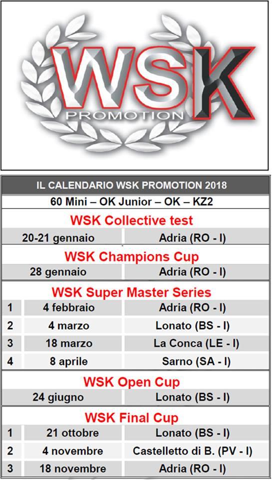 Calendario Castelletto Di Branduzzo.Il Calendario 2018 Wsk Promotion Tkart News Tips Tech