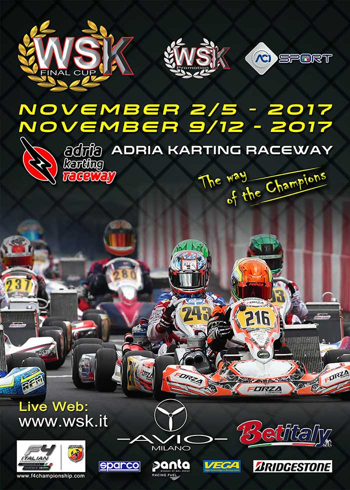 Over 200 drivers at the Adria Karting Raceway (I) for the WSK Final Cup,