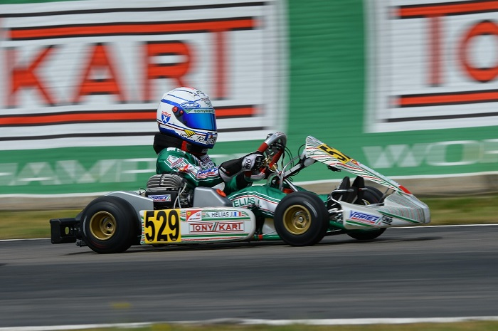 The Tony Kart Racing Team on the way to Sarno for the recovery of the 2nd round of WSK Super Master Series
