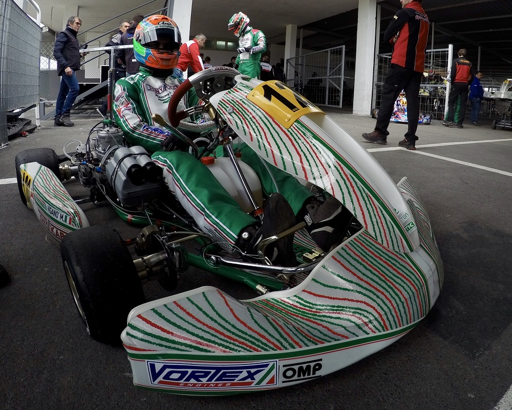 Tony Kart Uses During A Race The New Aerodynamic Front