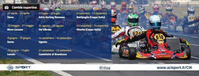 Online le pagine Facebook delle principali Serie Tricolore e del Campionato Italiano ACI Karting
