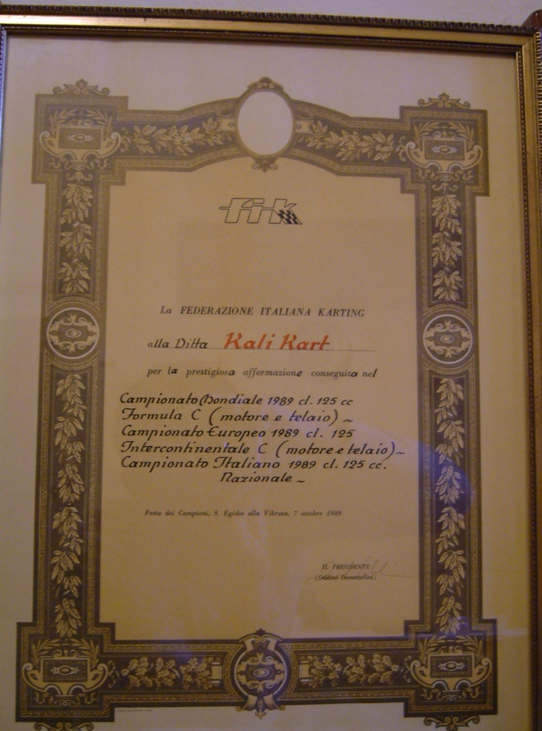 Conocer la historia de Calogero Vanaria y de la historia de Kalì Kart