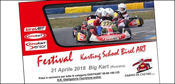Il 21 aprile il primo Festival Karting School Birel Art