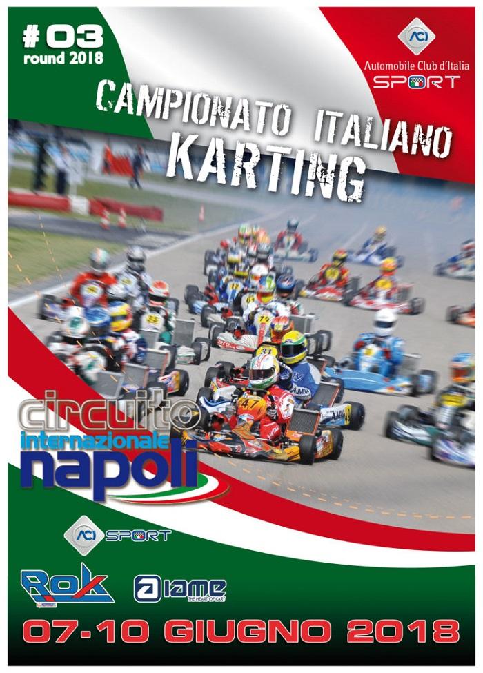 Hacia 200 pilotos en Sarno para la tercera ronda del Campeonato Italiano de Karting ACI