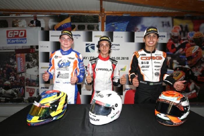 CRG conclude con il terzo posto nei campionati europei OK e OKJ