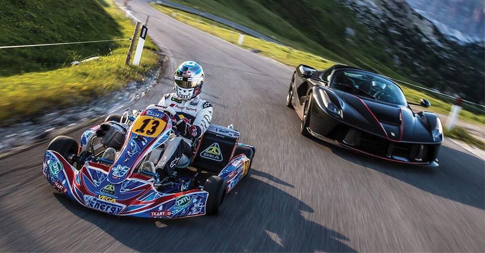 Challenge: Kart 250cc vs LaFerrari Aperta