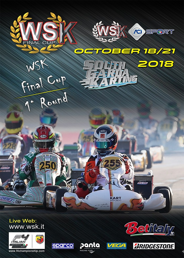 The entry list of WSK Final Cup to open on Friday September 21st.
