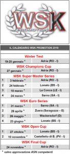 Calendario Final 2019.The 2019 Karting Calendar Of Wsk Promotion Tkart News
