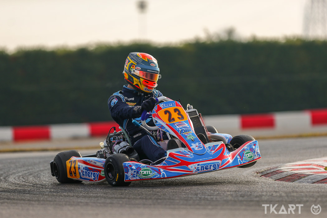 Alex Albon In Kart For A Day Of Training - Tkart