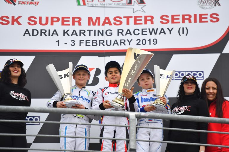 WSK Super Master Series, MINI: Al Dhaheri wins in Adria with Parolin