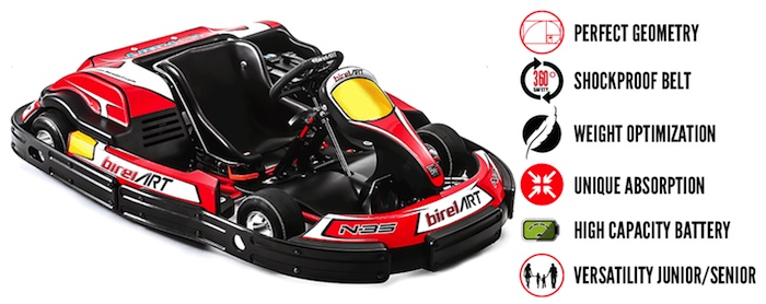 Birel ART Rental Kart breaking news: electrical solutions concepite for your operations