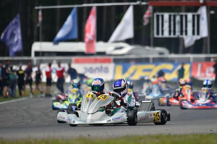 Tony Kart : podio Europeo per il Racing Team a Genk in OKJ