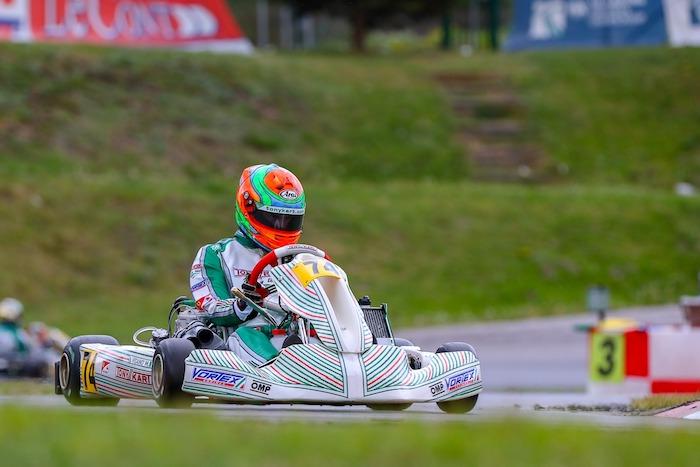 Viganò pole y podio en el debut europeo KZ