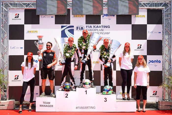 Extraordinary triple podium for Sodi in the European Championship at Sarno