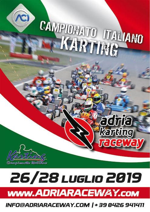 Ad Adria Karting Raceway il 28 luglio la quarta prova del Campionato Italiano ACI Karting