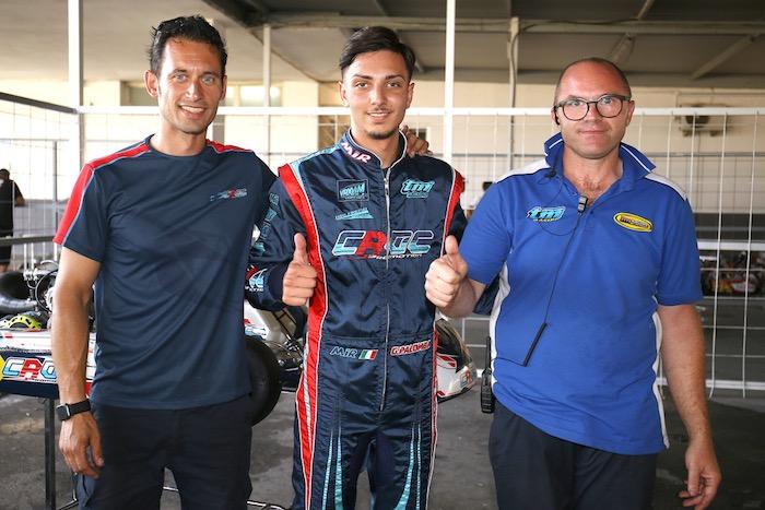 Iniziata a Sarno la terza prova del Campionato Italiano ACI Karting con i primi protagonisti delle pole positions