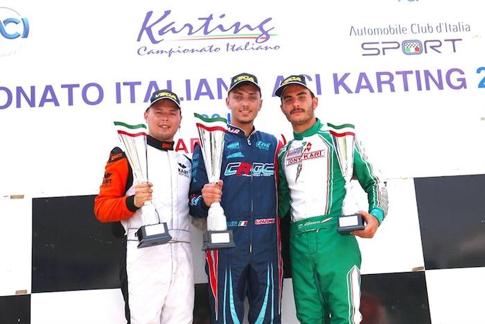 Nella terza prova del Campionato Italiano a Sarno gran protagonista Palomba in KZ2