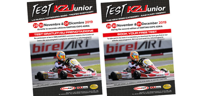 Easykart – try the new KZ Junior at the Adria Karting Expo from November 29th to December 1st.