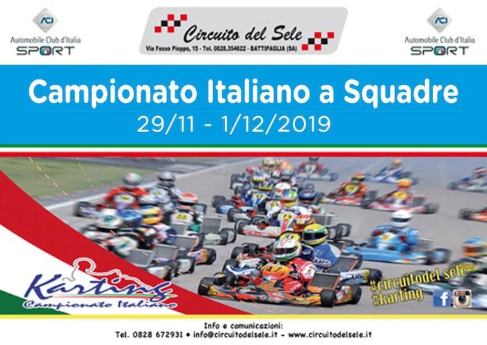 El 1 de diciembre en Battipaglia, la cita final del Campeonato Italiano de Karting para Equipos Regionales