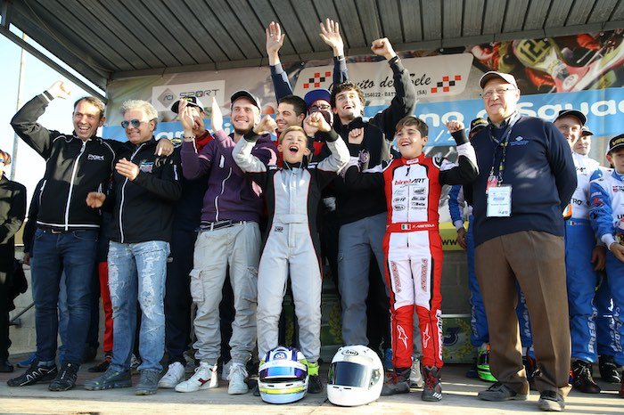 The Marche won the karting title in Battipaglia in the Italian Championship for Regional Teams