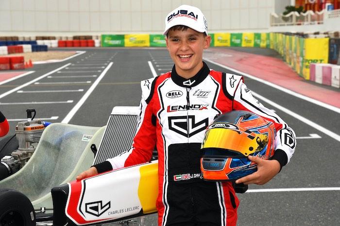 Il pilota di Dubai Jamie Day diventa pilota ufficiale per il marchio Charles Leclerc