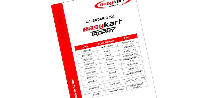 Rivelato il calendario provvisorio 2020 Easykart