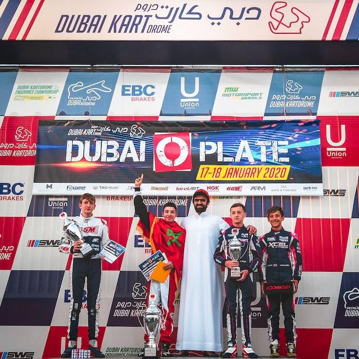 Dubai: Suleiman Zanfari firma la primera victoria del kart Charles Leclerc