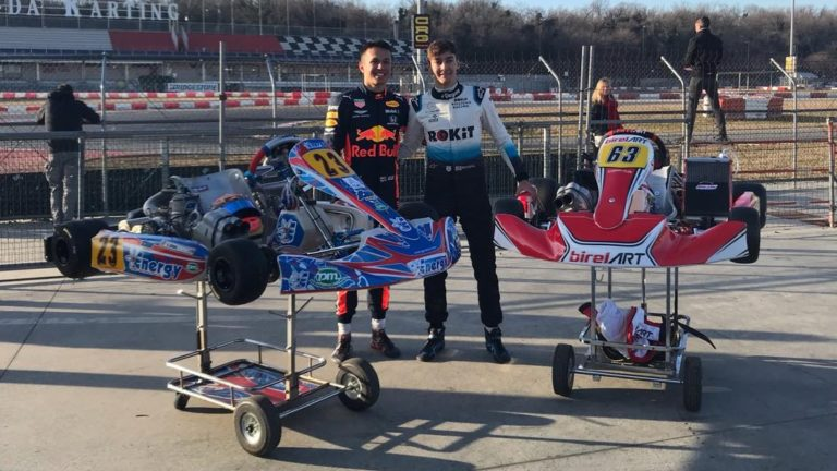 Russell and Albon: karting day in Lonato