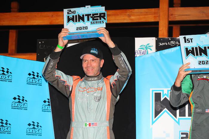 Miguel Mier lidera Team Crosslink en la apertura de la SKUSA Winter Series