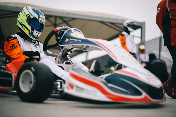 Sauber Karting Team – Christian Ho on the OKJ podium in Adria