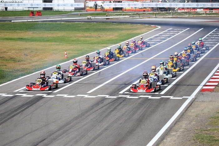 Great duels in Sarno in the qualifying heats of the Italian ACI Karting Championship